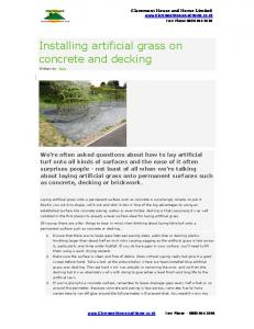 Installing artificial grass on concrete and decking