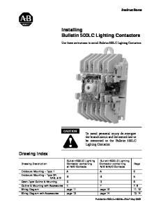 Installing Bulletin 500LC Lighting Contactors