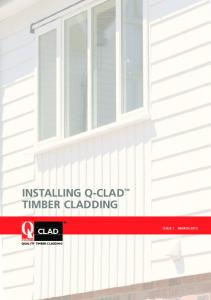 INSTALLING Q-CLAD TIMBER CLADDING CLAD QUALITY TIMBER CLADDING