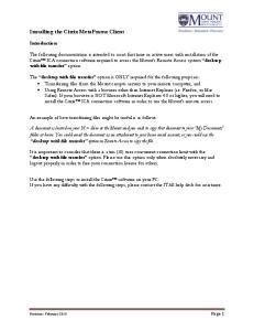Installing the Citrix MetaFrame Client