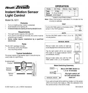 Instant Motion Sensor Light Control