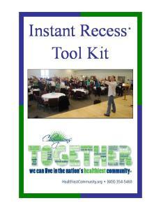 Instant Recess Tool Kit