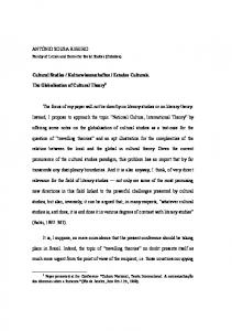 Instead, I propose to approach the topic National Culture, International Theory by