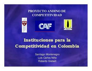 Instituciones para la Competitividad en Colombia