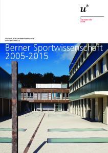Institut für sportwissenschaft  Berner Sportwissenschaft