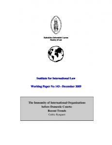 Institute for International Law