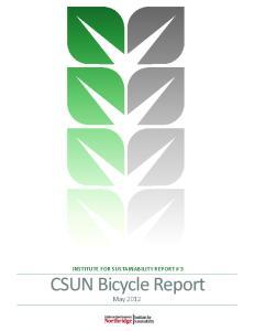 Institute for Sustainability Report # 3
