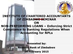 INSTITUTE OF CHARTERED ACCOUNTANTS OF ZIMBABWE SEMINAR
