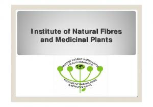 Institute of Natural Fibres and Medicinal Plants