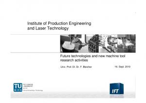 Institute of Production Engineering and Laser Technology