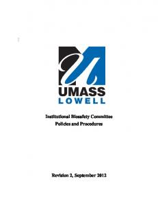 Institutional Biosafety Committee Policies and Procedures