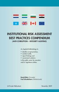 INSTITUTIONAL RISK ASSESSMENT BEST PRACTICES COMPENDIUM