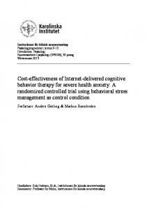 Institutionen för klinisk neurovetenskap