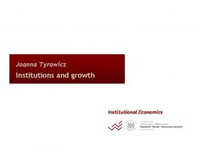 Institutions and growth