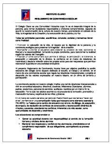 INSTITUTO CLARET REGLAMENTO DE CONVIVENCIA ESCOLAR