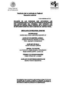 Instituto de la Judicatura Federal Escuela Judicial