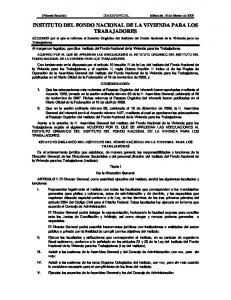 INSTITUTO DEL FONDO NACIONAL DE LA VIVIENDA PARA LOS TRABAJADORES