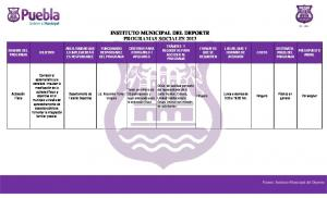INSTITUTO MUNICIPAL DEL DEPORTE PROGRAMAS SOCIALES 2013
