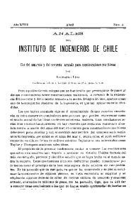 INSTITUTO OE INGENIEROS OE CHILE
