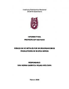 Instituto Politécnico Nacional CICATA-Querétaro