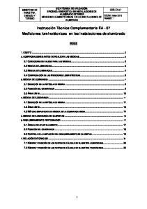 Instrucción Técnica Complementaria EA - 07 Mediciones luminotécnicas en las instalaciones de alumbrado