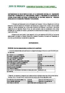 INSTRUCCIONES CEIP MADRE DE LA LUZ ( )