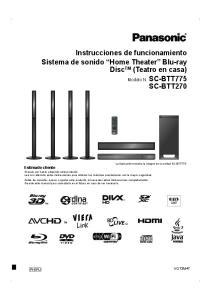 Instrucciones de funcionamiento Sistema de sonido Home Theater Blu-ray Disc TM (Teatro en casa)