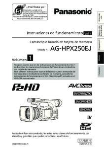 Instrucciones de funcionamiento Vol.1. Camascopio basado en tarjeta de memoria