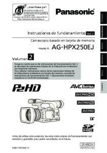 Instrucciones de funcionamiento Vol.2. Camascopio basado en tarjeta de memoria