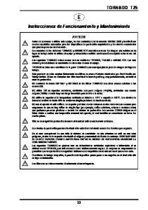 Instrucciones de Funcionamiento y Mantenimiento