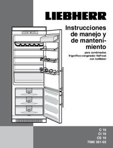 Instrucciones de manejo y de mantenimiento