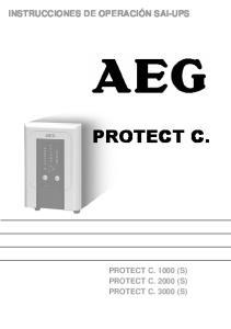 INSTRUCCIONES DE OPERACIÓN SAI-UPS PROTECT C. PROTECT C (S) PROTECT C (S) PROTECT C (S)
