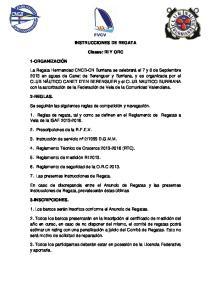 INSTRUCCIONES DE REGATA. Clases: RI Y ORC