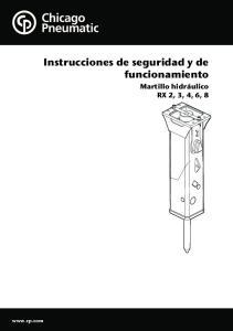 Instrucciones de seguridad y de funcionamiento