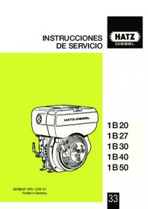 INSTRUCCIONES DE SERVICIO 1B 20 1B 27 1B 30 1B 40 1B SPA Printed in Germany