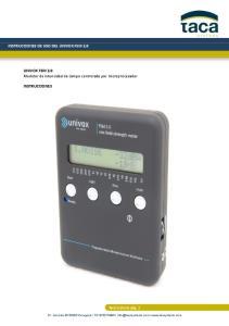 INSTRUCCIONES DE USO DEL UNIVOX FSM 2.0. UNIVOX FSM 2.0 Medidor de intensidad de campo controlado por microprocesador INSTRUCCIONES