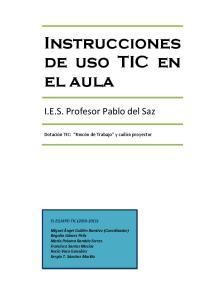 Instrucciones de uso TIC en el aula