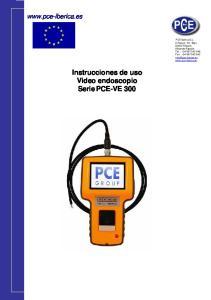 Instrucciones de uso Video endoscopio Serie PCE-VE 300