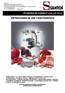 INSTRUCCIONES DE USO Y MANTENIMIENTO