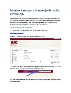 Instrucciones para el manejo del aula virtual AJC