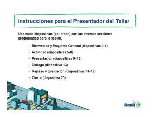 Instrucciones para el Presentador del Taller
