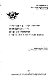 Instrucciones para las reuniones de navegacion aerea de tipo departamental