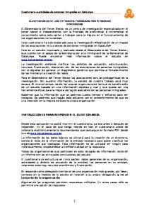 INSTRUCCIONES PARA RESPONDER EL CUESTIONARIO: