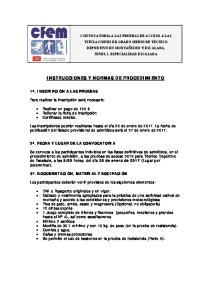 INSTRUCCIONES Y NORMAS DE PROCEDIMIENTO