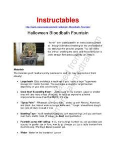Instructables.  Halloween Bloodbath Fountain