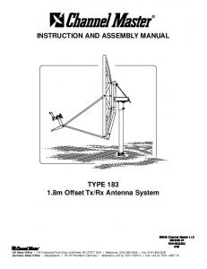 INSTRUCTION AND ASSEMBLY MANUAL