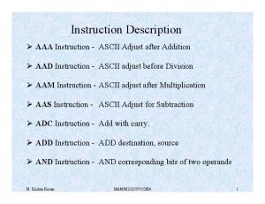 Instruction Description