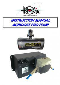 INSTRUCTION MANUAL AGRIDOSE PRO PUMP