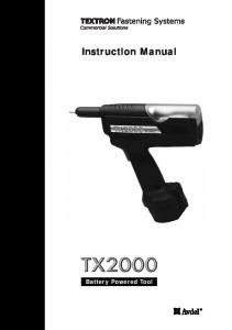 Instruction Manual Battery Powered Tool