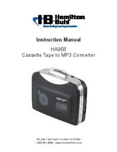 Instruction Manual HA968 Cassette Tape to MP3 Converter